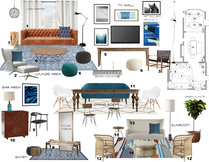 Rustic/Eclectic Dining and Living Design Laura A. Moodboard 2 thumb