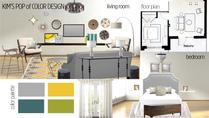 Bright Mid Century Modern Living Room Tanika G. Moodboard 1 thumb