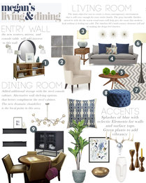 Modern Living, Entry, and Kids Room Design Taron H. Moodboard 1 thumb