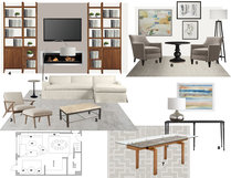 Modern, Yet Subtle Living/Dining Room Laura A. Moodboard 1 thumb