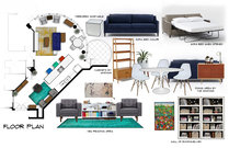 Lux Miami feel living & dining room Aldrin C. Moodboard 1 thumb
