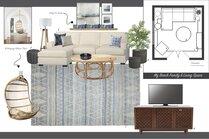 White Coastal Small Living Room Stephanie S. Moodboard 2 thumb