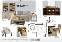 Neutral Transitional Living/Dining Room Design With Blue Accents Tiara M. Moodboard 1 thumb