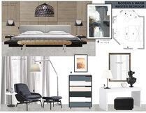 Modern Master Bedroom Transformation Laura A. Moodboard 2 thumb