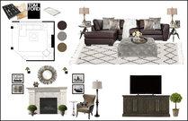 Masculine Glam Living Room Interior Design Rachel H. Moodboard 2 thumb