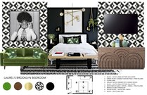 Pop of Color for the Bedroom, Bathroom, and Dining Michelle B.  Moodboard 1 thumb
