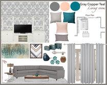 Global Contemporary Living Room Design Gargi K. Moodboard 1 thumb