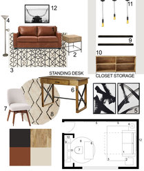 Multifunctional Small Home Office  Lauren Z. Moodboard 2 thumb