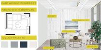 Elegant transitional living room and bedroom design Felipe N. Moodboard 2 thumb