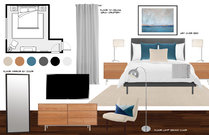 Modern master bedroom update in grey color Rachel F. Moodboard 2 thumb