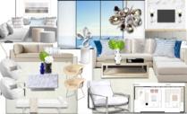 Teal Accents for High End Apartment Michelle B.  Moodboard 2 thumb