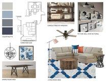 Small condo transitional living room Jennifer A.  Moodboard 1 thumb