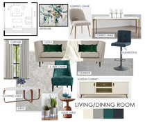 Contemporary Rustic Living Dining  Devanshi S. Moodboard 1 thumb