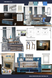 Contemporary Living Room in Muted Tones Lauren B. Moodboard 1 thumb