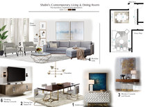 Elegant and modern living room Tiara M. Moodboard 1 thumb