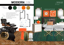 Modern chic master bedroom Ibrahim H. Moodboard 1 thumb