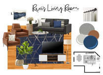 Mid century modern living room and study transformation Paaj Y. Moodboard 2 thumb