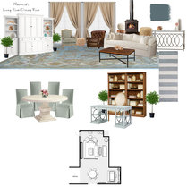 Open Contemporary Living/Dining Space Teri C. Moodboard 2 thumb