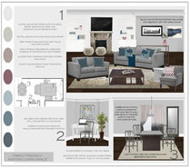Modern and Traditional Livingroom  Sonia C. Moodboard 2 thumb