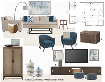 Modern Basement Family Room Laura A. Moodboard 1 thumb
