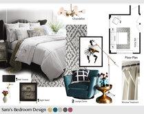 Femenine glamour bedroom Tiara M. Moodboard 1 thumb