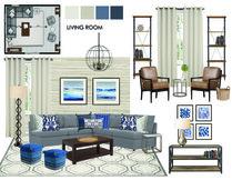 Homey traditional industrial living room Jodi W. Moodboard 1 thumb