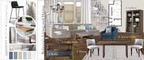 Contemporary Combine Living/Dining Transformation Lauren A. Moodboard 1 thumb