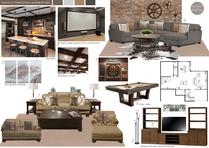 Traditional and comfortable basement bar and living room  Picharat A.  Moodboard 2 thumb