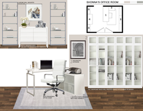 Clean and Modern Home Office Design Picharat A.  Moodboard 2 thumb