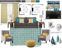 Contemporary pop living room Picharat A.  Moodboard 1 thumb
