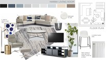 Navy Accents for Contemporary Living Room Marcy G. Moodboard 2 thumb