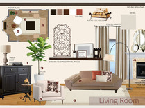 Rustic mediterranean with asian accents living and dining room Jessica D. Moodboard 2 thumb