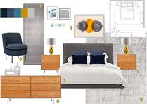 Modern master bedroom update in grey color Henrika T. Moodboard 1 thumb