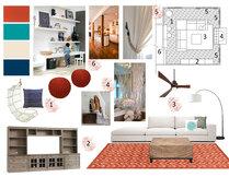 Transitional Modern Living Room Jennifer A.  Moodboard 1 thumb