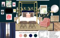 Femenine glamour bedroom Michelle B.  Moodboard 3 thumb