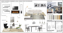 Modern Clean Living/Dining Transformation Rajna S. Moodboard 2 thumb