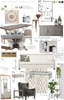 Neutral Eclectic Home Transformation Jessica S. Moodboard 1 thumb