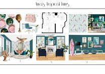 Eclectic Transitional Living Space Design Dominika Z. Moodboard 1 thumb
