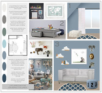 Fun Blue Kids Playroom Sonia C. Moodboard 2 thumb