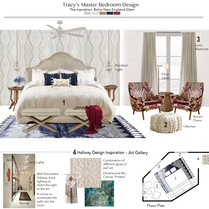 Cozy contemporary master bedroom & kids room Tiara M. Moodboard 1 thumb