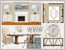 Traditional living & dining room transformation Tera S. Moodboard 1 thumb