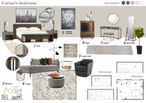 Contemporary & Confortable Master Bedroom Marina S. Moodboard 1 thumb