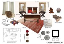 Eclectic Stylish Bedroom Allison E. Moodboard 1 thumb