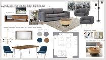 Stylish Beach Living Room & Bedroom  Lidija P. Moodboard 2 thumb