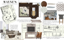 Stylish Eclectic Living Room and Kitchen Design Taron H. Moodboard 1 thumb