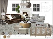 Masculine Glam Living Room Interior Design Nadia G. Moodboard 1 thumb