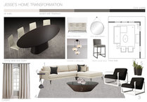 Elegant Transitional Combined Living/Dining Stella P. Moodboard 1 thumb