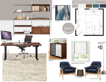 Masculine modern home office Picharat A.  Moodboard 1 thumb