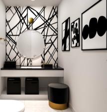 Online Designer Bathroom 3D Model