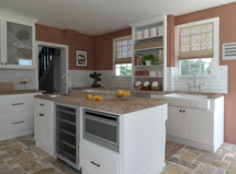 Online Designer Kitchen 3D Model